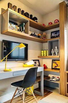 Decoração de home office - Coisas da Léia
