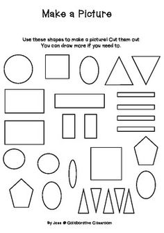 2D Shape Picture/Graphing Activity