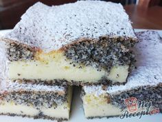 Mramorové makové kostky   NejRecept.cz Czech Recipes, Ethnic Recipes, Hungarian Desserts, Oreo Cupcakes, Cake Bars, Something Sweet, Desert Recipes, Graham Crackers, Fudge