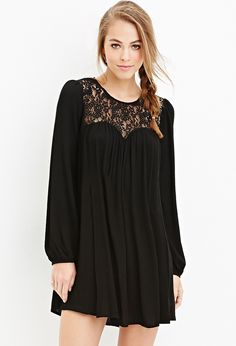 Lace-Paneled Shift Dress | Forever 21 - 2000163154
