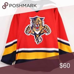 I just added this listing on Poshmark  Vintage 90s Florida Panthers CCM  Hockey Jersey. bcbb76ced