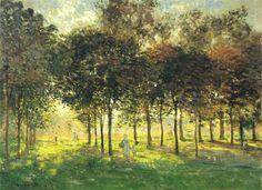 Claude Monet: The Promenade at Argenteuil, Soleil Couchant, 1874