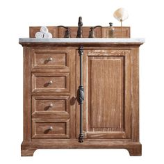 Buy the James Martin Vanities Driftwood Direct. Shop for the James Martin Vanities Driftwood Providence Free Standing Single Basin Vanity Set with White Oak Cabinet and Classic White Quartz Vanity Top and save. 36 Vanity, Single Sink Bathroom Vanity, Wood Vanity, Vanity Cabinet, Bathroom Vanities, Bathroom Ideas, Vanity Ideas, Bathroom Inspiration, Small Bathroom
