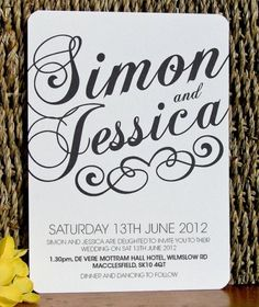 30 Inspiring Black And White Wedding Invitations | Weddingomania