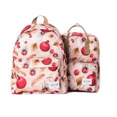 """Fantastic print «POMEGRANATE» are presented in our two models. They have a large pocket for the 15"""" notebook and a pocket for a tablet inside."""