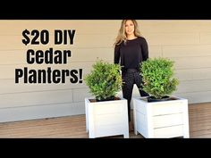 Super easy and inexpensive to make DIY planter boxes! Made primarily with cedar fence pickets, this is a great beginner project and you only need a few basic. Planter Box Plans, Cedar Planter Box, Diy Planter Box, Building Planter Boxes, Kids Woodworking Projects, Diy Wood Projects, Wood Crafts, Simple Projects, Woodworking Crafts