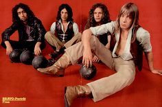 Free, poster from german magazine BRAVO 1970  Paul Rodgers, Andy Fraser, Paul Kossoff and Simon Kirke