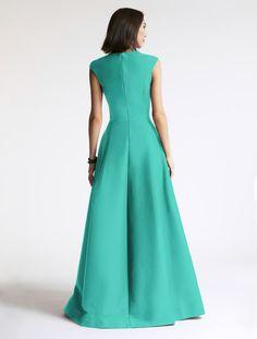 Halston - Silk Faille Structured Gown