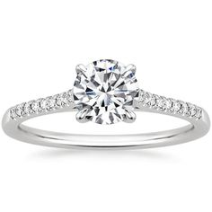 18K White Gold Lissome Diamond Ring from Brilliant Earth - This exact cut and ring is perfect