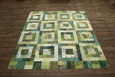 Been thinking about a trip to NZ in June and some how it translated into a green quilt.  When I think about New Zealand I see green in my head.