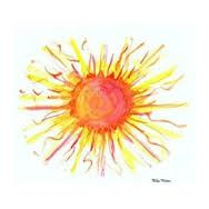 Image result for watercolor sun tattoo
