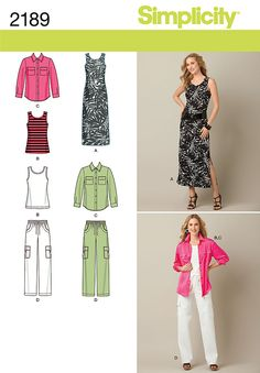 Free Printable Sewing Patterns   Simplicity 2189 - Misses' & Plus Size Sportswear