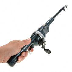 Professional Glass Fiber Steel Telescope Fishing Rod Spinning Pole Portable #L