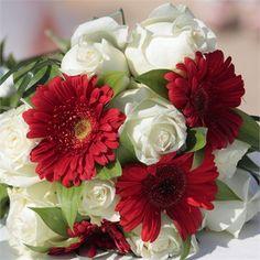 Gerber daisies and roses dramatic