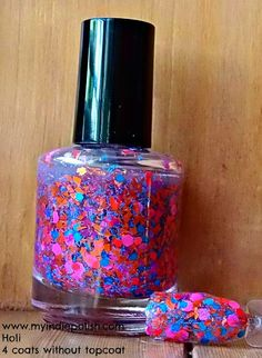 Holi   Nail Polish  large bottle  Handmade  As seen by IndiePolish, $8.75