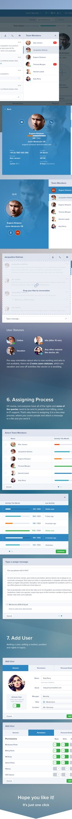 Customer Care UI / User Experience by Jan Losert, via Behance