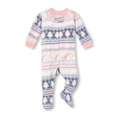 b6c8d03083 Baby And Toddler Girls Long Sleeve Unicorn Fairisle Footed Blanket Sleeper  Toddler Fashion