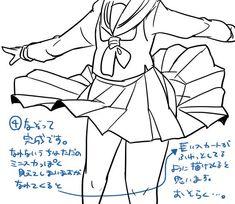 """東385(新刊通販中)さんのツイート: """"少しでも人の役に立てたらと思ってシリーズ 完全なる自己流のスカートのなびかせ描き方です https://t.co/kPJGtXUIU0"""""""