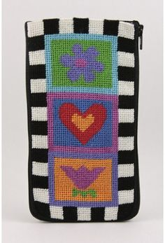 Eyeglass Case - Fun and Funky - Needlepoint Kit by Alice Peterson. $16.50. Stitch & Zip Preassembled Needlepoint Eyeglass Cases are available in several designs. These unique needlepoint kits offer many different uses. They are not just your typical eyeglass case; they can be used for badge holders, pen holders, etc. You can add beads, straps, gem stones to your case and make it your own. STITCH & ZIP needlepoint kits are preassembled and require no sewing or expen...