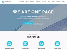 OnePress WordPress theme is a creative and stylish WordPress one page theme. Free WordPress one page business theme. One page responsive WordPress theme free Template Wordpress, Tema Wordpress, Premium Wordpress Themes, Wordpress Org, First Page, Business Website, Website Template, Digital, Design