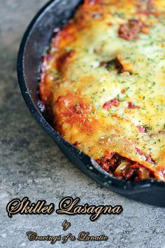 Skillet Lasagna | Simple, classic and utterly delicious! This recipe if fabulous.