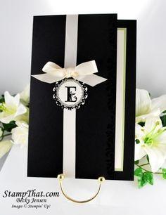 handmade wedding invitations ideas | Stampin' Up! Handmade Wedding Invitation with Coordinationg Response ...