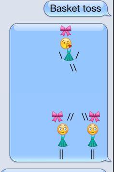 Basket toss emoji