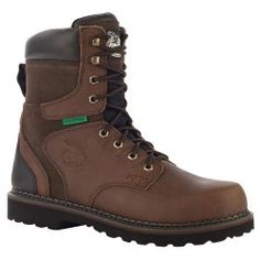 Georgia Boot Size: 8 Mens Steel Toe Work Boot at Lowe's. These Georgia Brookville Steel Toe Waterproof Work Boot keeps your feet safe and dry on the job. You won't be worried about safety due to this boot's Georgia Boots, Steel Toe Work Boots, Goodyear Welt, Cool Boots, Dark Brown Leather, Men S Shoes, Shoes Outlet, Brown Boots, Leather Boots