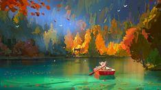 Lake wallpaper for desktop and phones Chen, Image Painting, Gaming Wallpapers, Environment Concept Art, Visual Development, Aesthetic Art, Art Blog, Digital Illustration, Game Art
