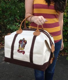 Hogwarts Gryffindor House Canvas Weekend Duffle Bag by FanFash on Etsy Harry Potter Merchandise, Harry Potter Outfits, Harry Potter Love, Harry Potter World, Canvas Home, House Canvas, Hogwarts Houses, Mischief Managed, Geek Chic