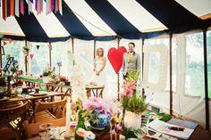Beach & Colourful Marquee Cornish Wedding: Sarah & Doug {Part Two}