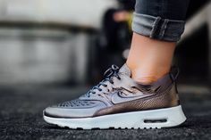 Nike WMNS Thea Joli Metallic Pewter http://goo.gl/xaA0K4