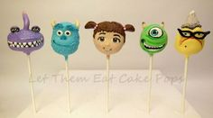 Monsters Inc. Cake Pops - Cake by Steph Wood Monsters Inc Cake Pops, Monsters Inc Crafts, Monster Inc Cakes, Monster Birthday Cakes, Monsters Ink, Monster Inc Party, Disney Cake Pops, Disney Cakes, 3rd Birthday Parties