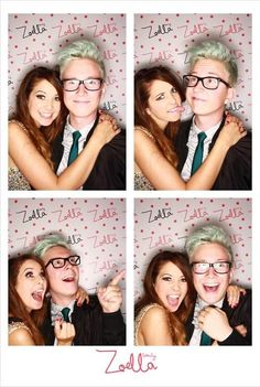 Zoe Sugg and Tyler Oakley at the Zoella Beauty launch.