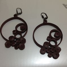 quilling earrings chocolate