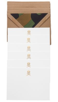 Terrapin Stationers Skull Note Cards