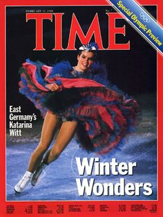 Katerina Witt on the cover of TIME.Calgary - Special Olympic Preview, n° 7 - February 15 - 1988 - See more at: http://www.regardsdusport-vandystadt.com/Editions-Collector-s-de-Gerard-Vandystadt-Katarina-Witt-Le-Livre.html#sthash.1ELOUluU.dpuf