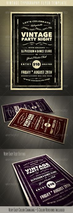Motel Sign - Flyer & Poster | Fonts, Typography And Festivals