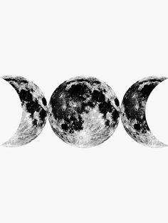 Goddess Symbols, Moon Symbols, Wiccan Symbols, Symbol Tattoos, Body Art Tattoos, Tattoo Mond, Triple Moon Goddess, Triple Goddess Symbol, Goddess Tattoo