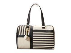 Mixed stripes satchel bag