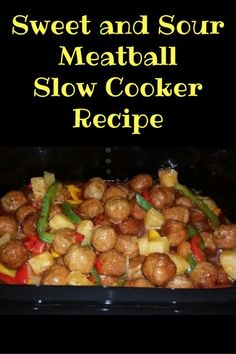 These are easy to make, delicious, and healthy. You can't go wrong with these 3 characteristics. Slow Cooker Beef, Slow Cooker Recipes, Crockpot Recipes, Chicken Recipes, Side Recipes, Dinner Recipes, Dinner Ideas, Sweet And Sour Meatballs, Good Food