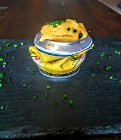 Mango, chorizo y tónica en Lata. receta de Arzak