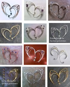 Custom silver elf ears by Belethil on Etsy, $60.00 I collect faeries ... I may have to investigate this ... :-)