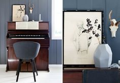 Som interiørstylist ble Merete så lei av andres hvite vegger at hun malte nesten alle sine egne grå.