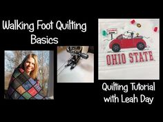 Learn about machine quilting with a walking foot on a home sewing machine from online quilting instructor Leah Day. Find a free video on walking foot quilting.