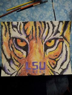 LSU done with watercolor