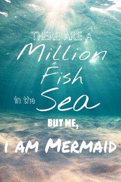 There are a million fish in the sea but me, I am Mermaid #iphone #wallpaper #mermaid #quote