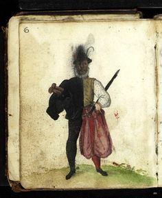 bifid figure painted into the Schroter album in the 1580s -- image via the HAAB, Weimar. The Schroter album bifids are significant because the only album bifids I have noted to date which are pre-Pugillus, i.e. ante 1608