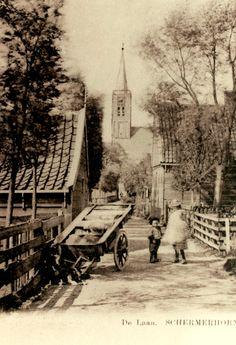 hondenkar-van-Rob-Deckwitz-bij-het-kleinste-huisje-rond-1910
