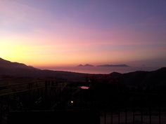 Sunset from Villa Rica faced the Aeolian Islands